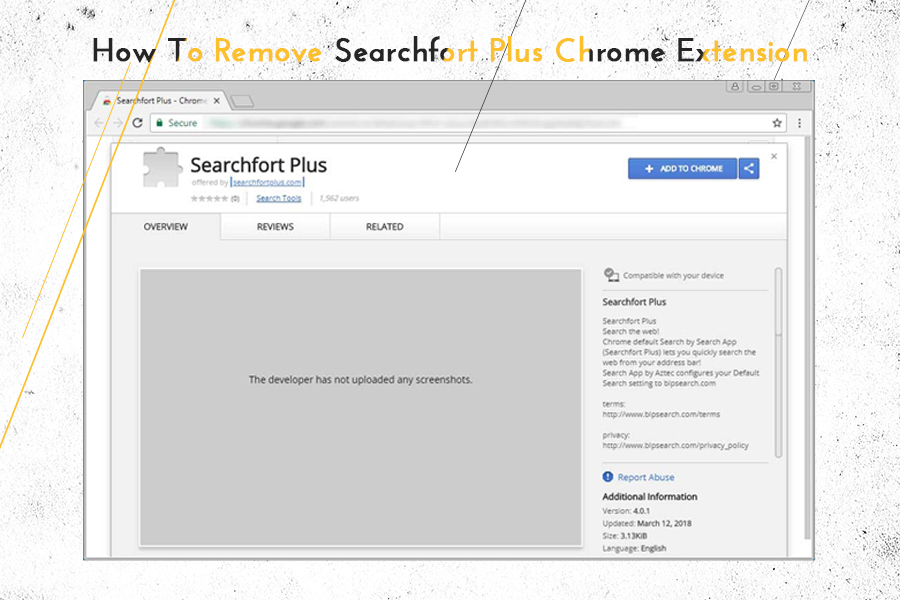 How to Remove Searchfort Plus Chrome Extension