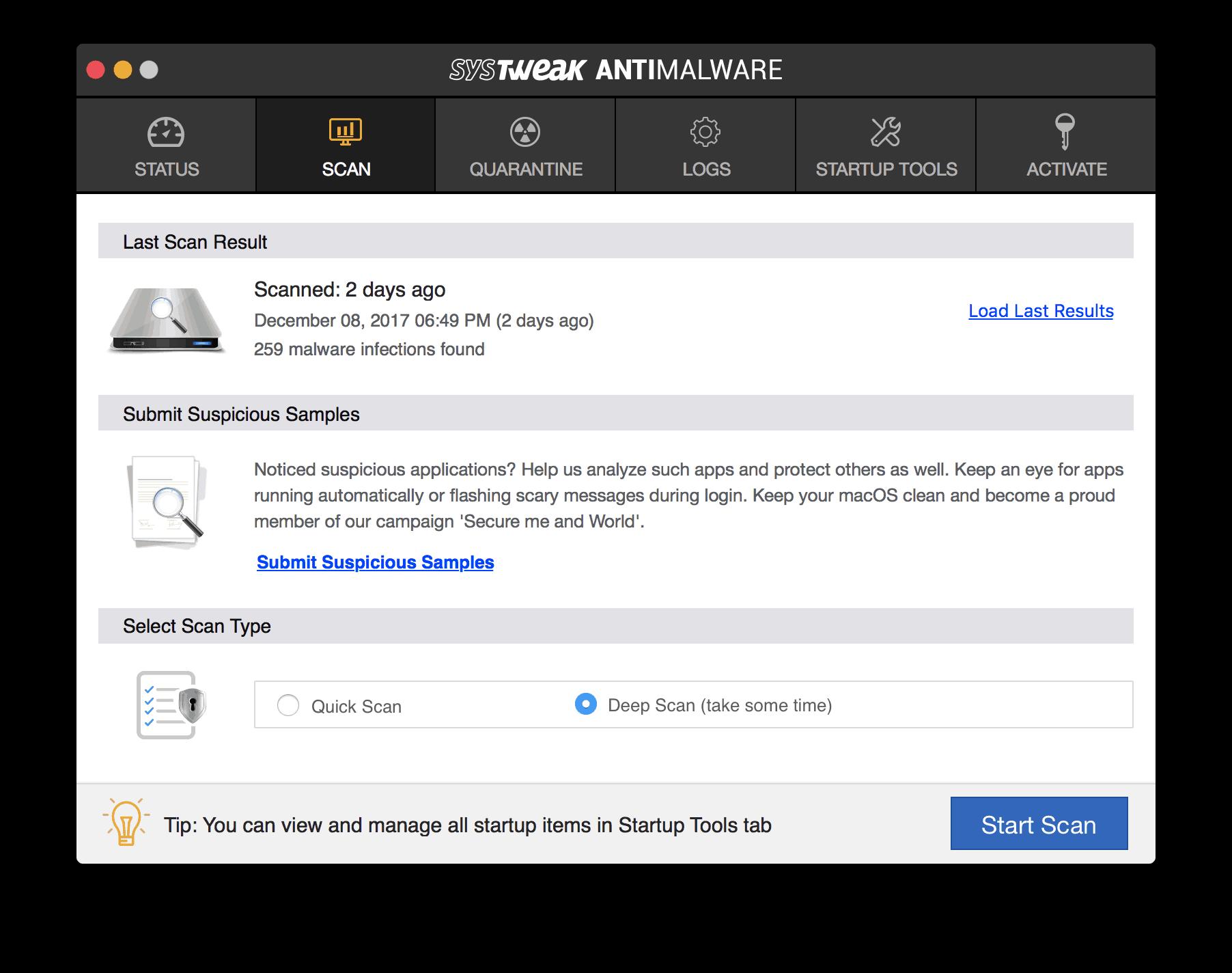 systweak antimalware for mac in darth miner