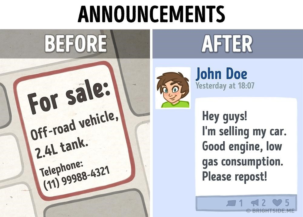 before and after internet in marketing