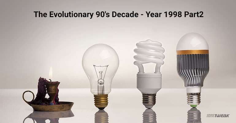 90's – The Milestone Decade for Technologies – Year 1998 Part 2