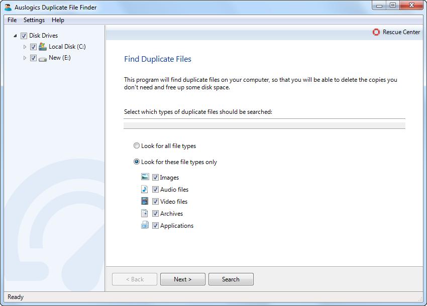 Auslogic Duplicate File Finder