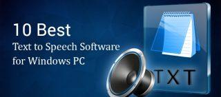 Best Text to Speech Software for Windows PC