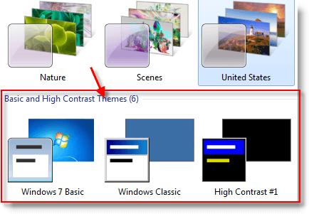 Change visual effect settings in windows 7