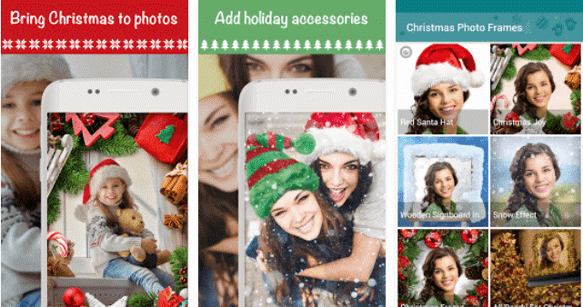christmas photo frames effects cards art