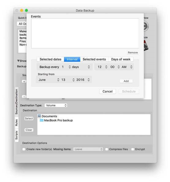 Data Backup for Mac