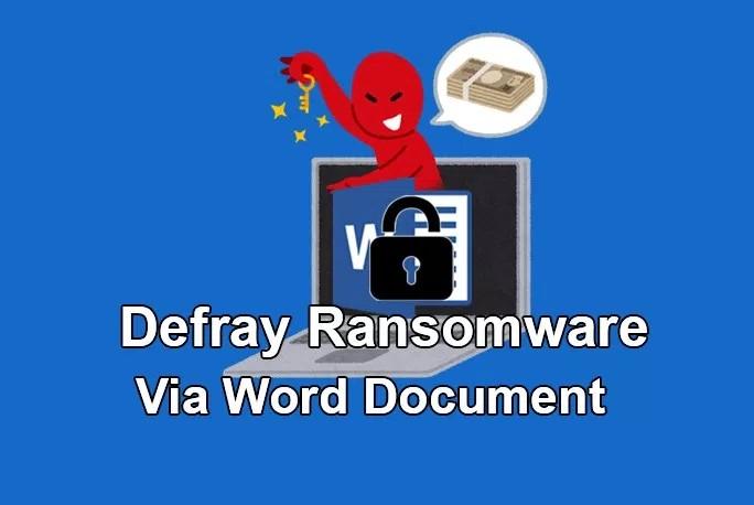 Defray ransomware