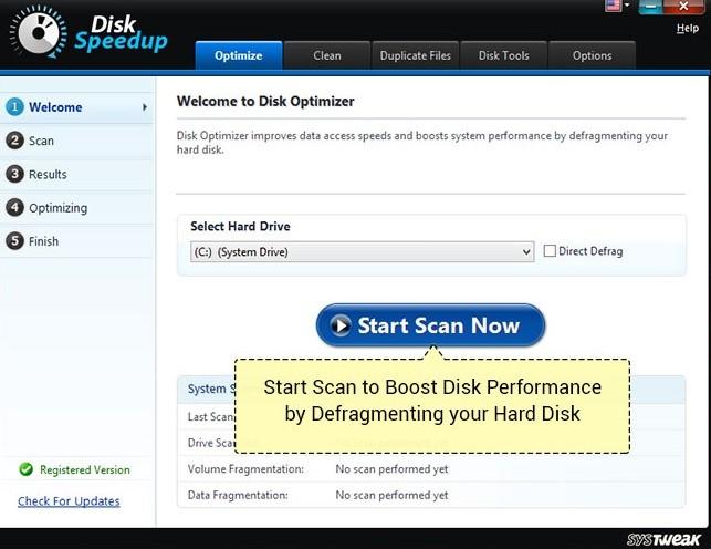 Disk Speedup tool