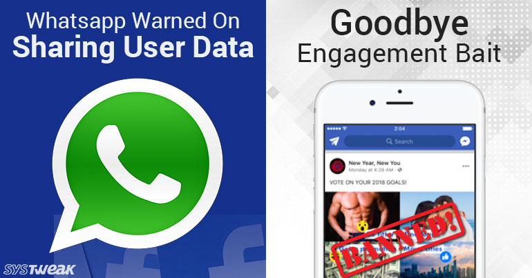 Facebook Says No To Spammy Post & CNIL Asked Whatsapp Not To Share Data With Facebook