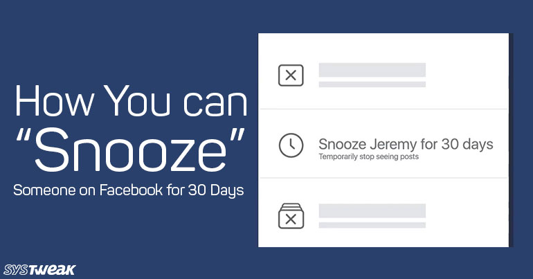 """How To """"Snooze"""" Someone On Facebook For 30 Days"""