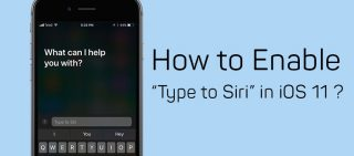 """How To Enable """"Type to Siri"""" In iOS 11"""