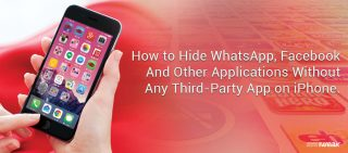 How To Hide Whatsapp, Facebook And Other Applications Without Any Third-Party App On iPhone