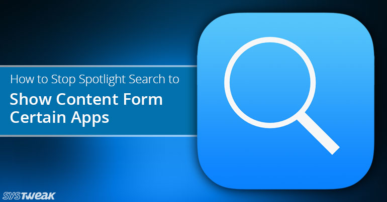 How to Stop Spotlight Search to show content form certain apps on Your iPhone