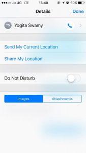 share location oiPhone