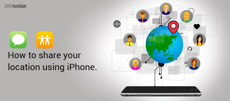 How to share location oiPhone