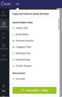 Images for multiple social media platforms