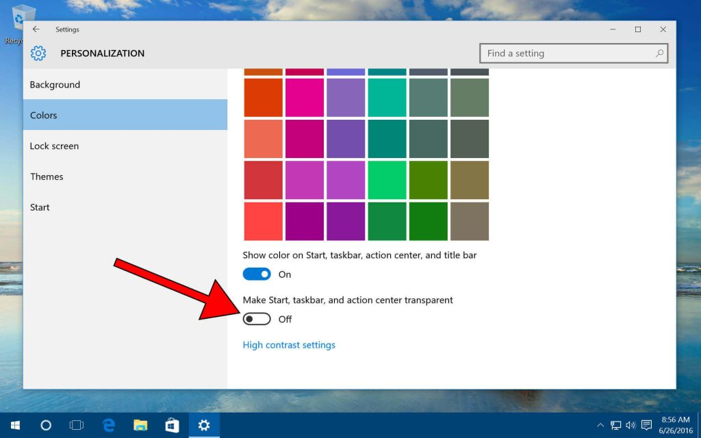Lose the transparency- make windows 10 faster