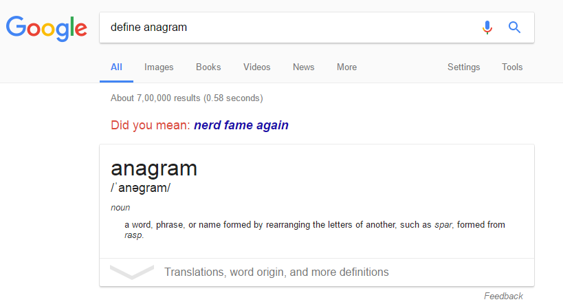 make-anagram-on-google