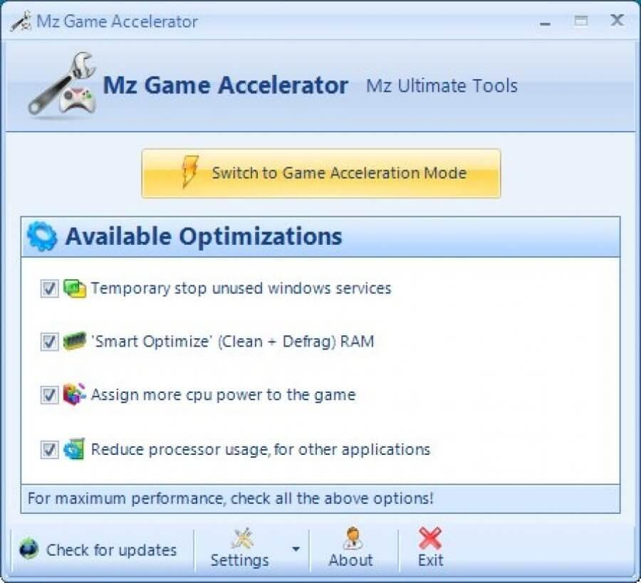 Mz Game Accelerator Best Game optimizer