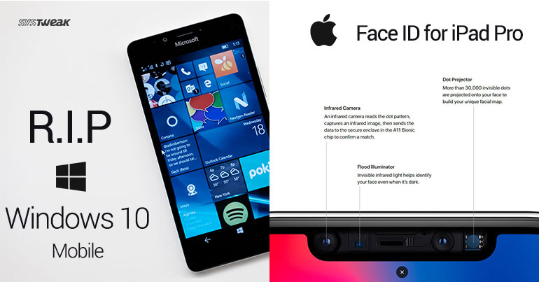 NEWSLETTER Windows Phone Takes A Dirt Nap & Face ID On iPad Pro 2018