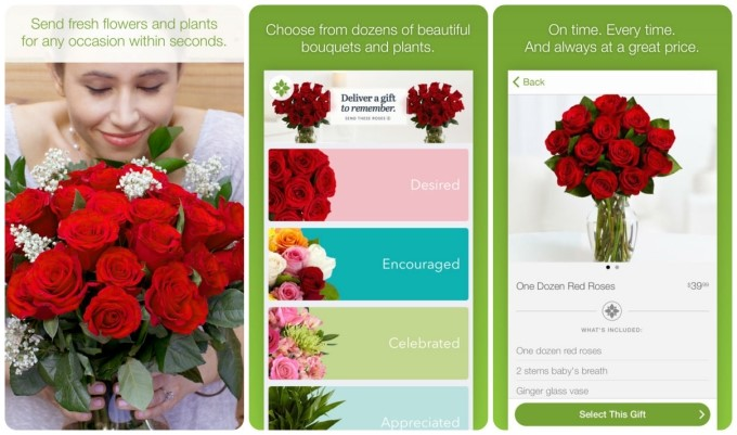ProFlowers Sending flowers and gifts on the run is fast and easy with the free ProFlowers iPhone Application. Choose from beautiful flower arrangements including roses, tulips, lilies, orchids, plants and more, or send gourmet gifts including hand dipped strawberries.