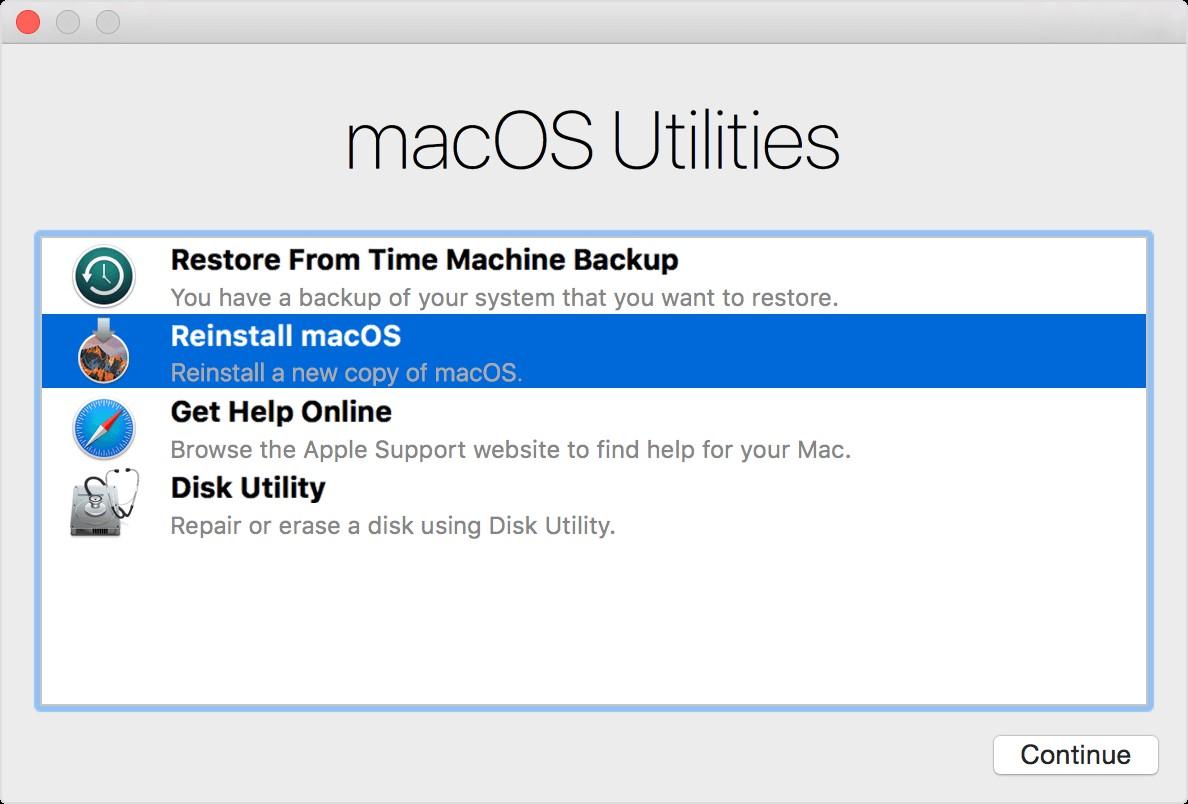 Reinstall Mac OS X