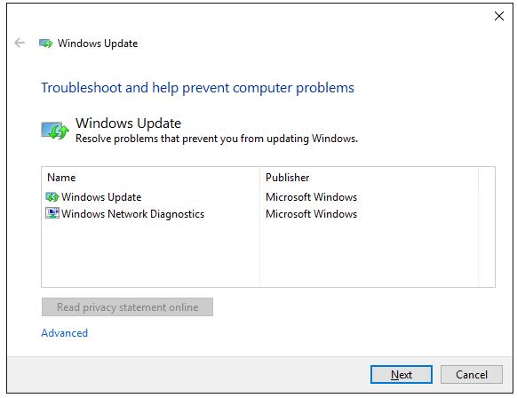 Reset Windows Update components