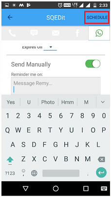 Schedule WhatsApp Messages On Android 10