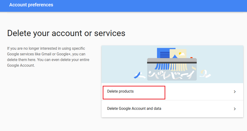 delete google product