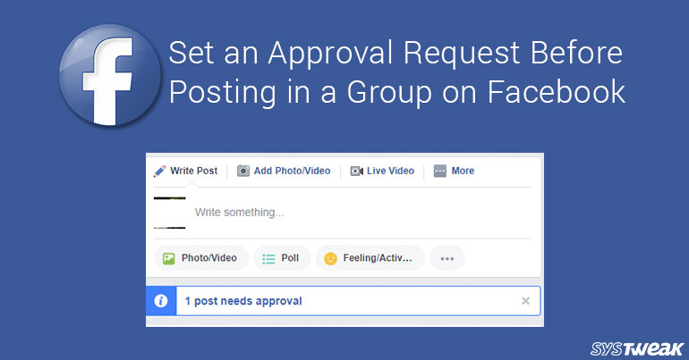 Set Approval Request For Facebook Group Posts