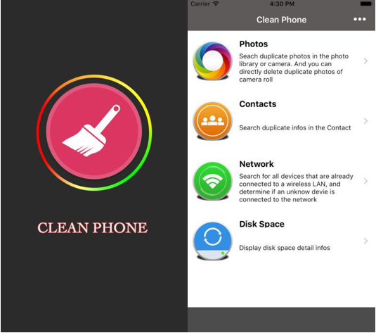 10 best iphone and ipad cleaner apps 2017 another free iphone cleaner is smart cleaner the application is efficient enough to remove duplicate contacts to analyze and clean disk space ccuart Image collections