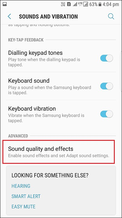 Sound quality and effects