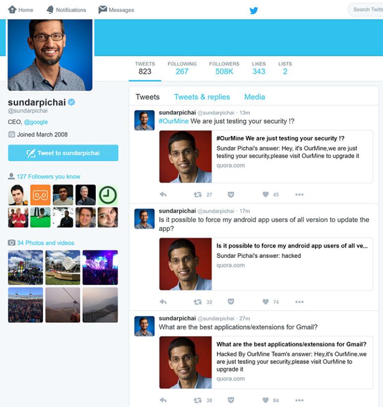 Sundar Pichai Twitter