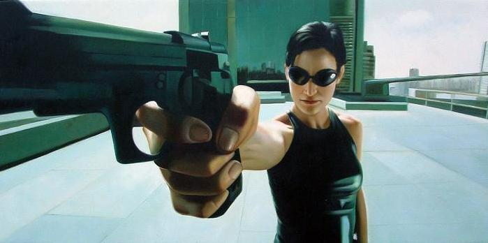 Carrie Anne Moss as Trinity in The Matrix Series