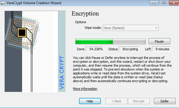 VeraCrypt- best software to encrypt files