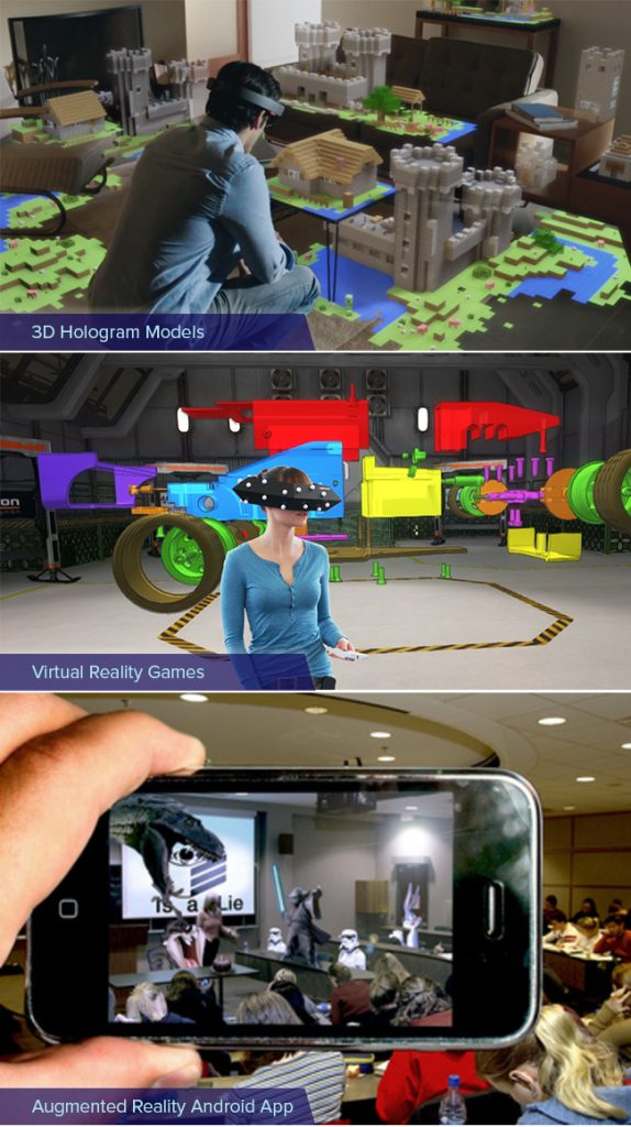 Vr AR holography example explained