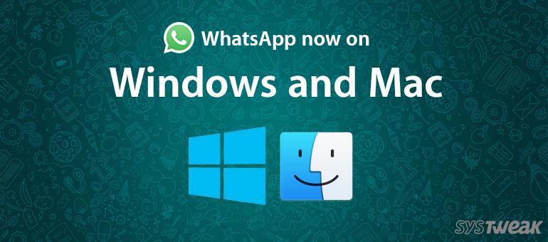 Whatsapp for windows and mac