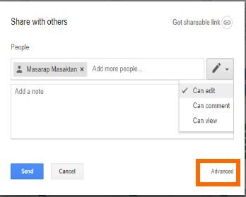 advanced share option