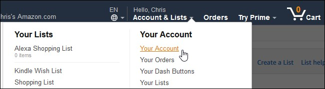 how to create amazon account