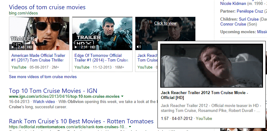 bing video search example
