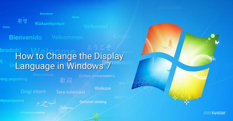 change display language in windows 7