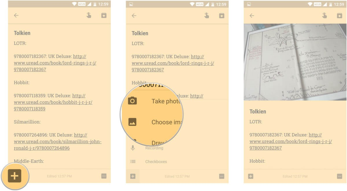 choose image google keep