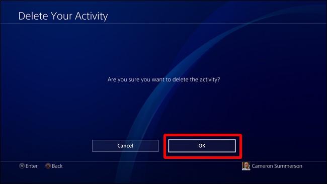 delete Ps4 activity