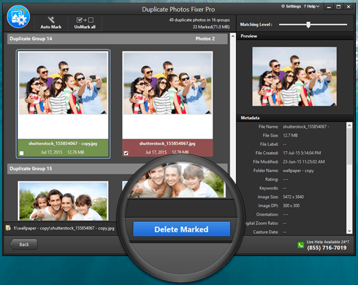 Duplicate photos fixer