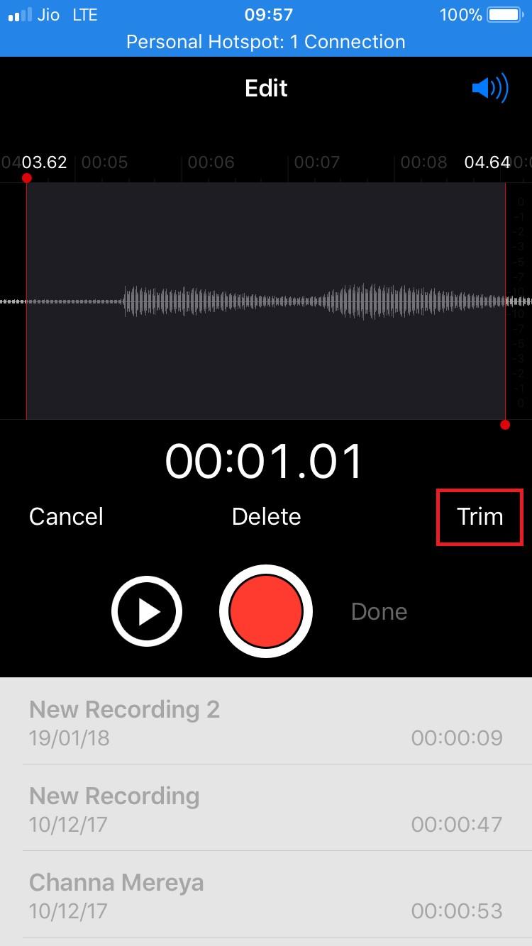 edit recordings