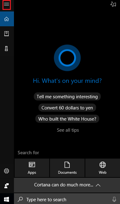 enable Hey Cortana on Windows 10