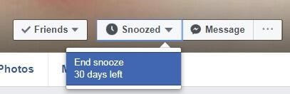 facebook end snooze