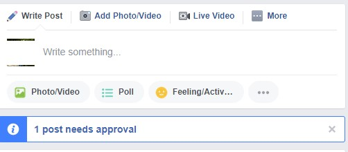 facebook need approval