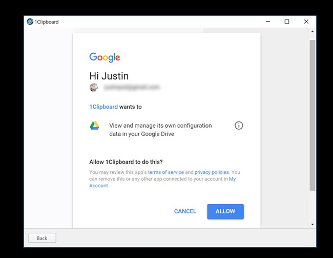google account 1 clipboard