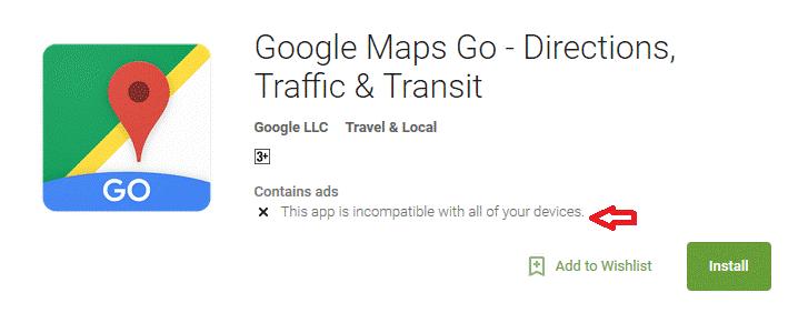 google maps go is ok