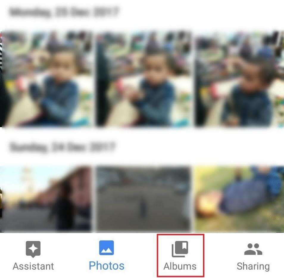google photo app album